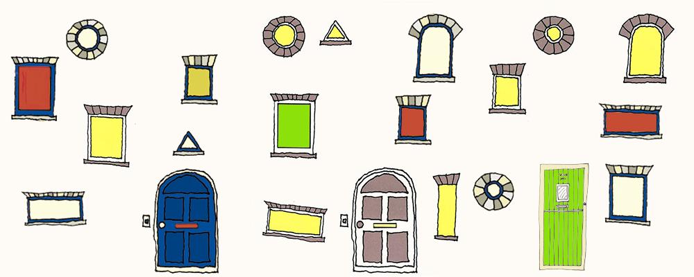 dibuixa una casa-post